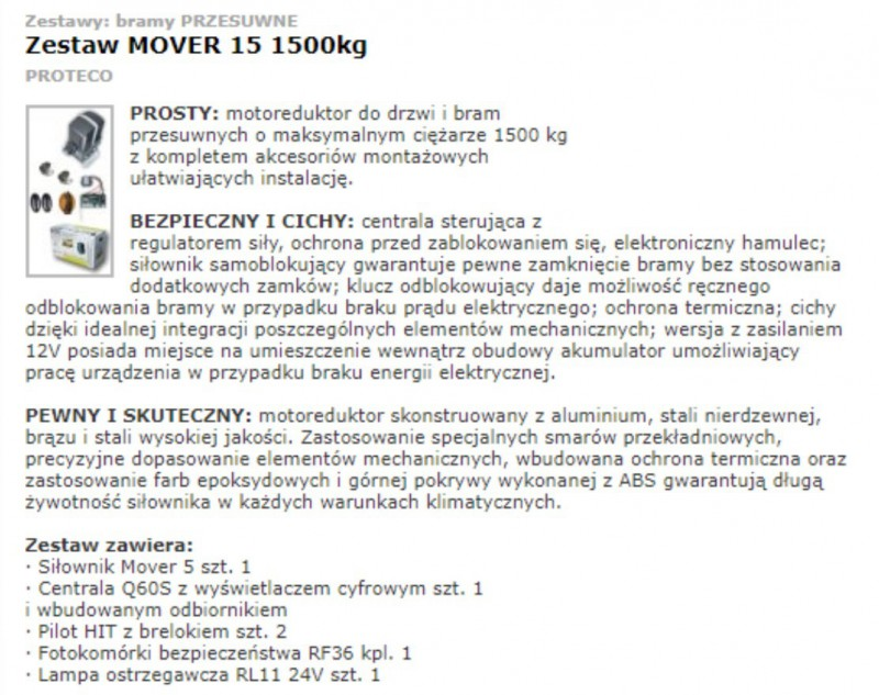 OPIS MOVER